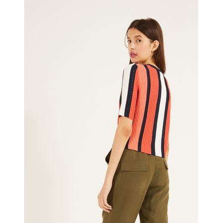 CROPPED TRICOT STRIPES