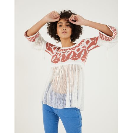 BLUSA TRICOT OFF SHOULDER