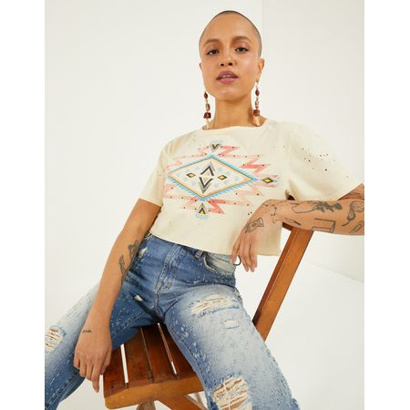 T-SHIRT CROPPED ETNICA